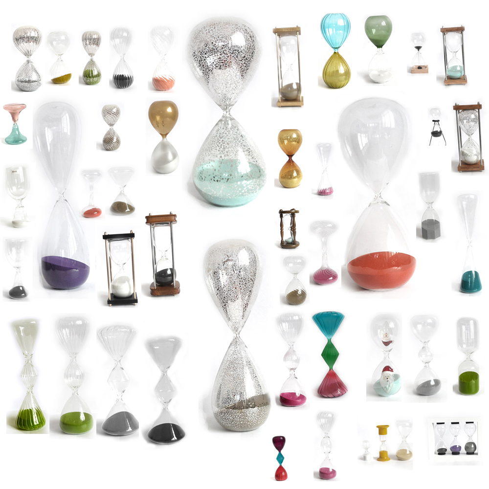 color tube mercury glass hourglass sand timer