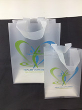 printed frosted ldpe shopping plastic bag