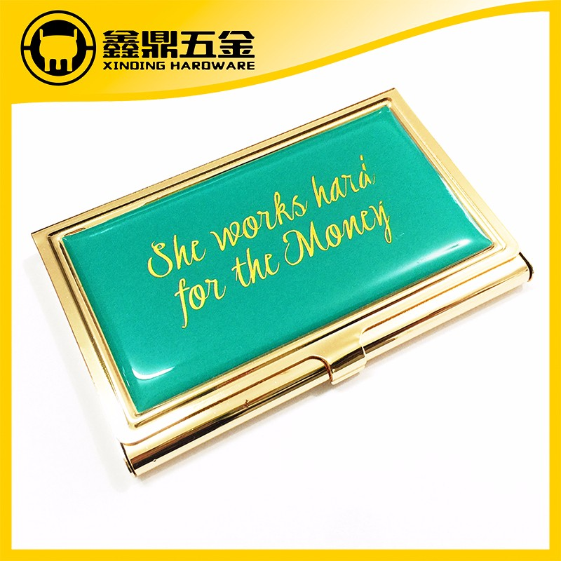 Gold color Stainless steel business card holder