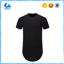 Custom Design Extra Long Man Fitness Short Sleeve Crew Neck Cotton T Shirt Wholesale