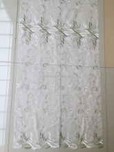 voile embroidered fabric curtains for living room modern