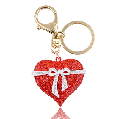 valentines day gifts crystal heart keychain buy from alibaba