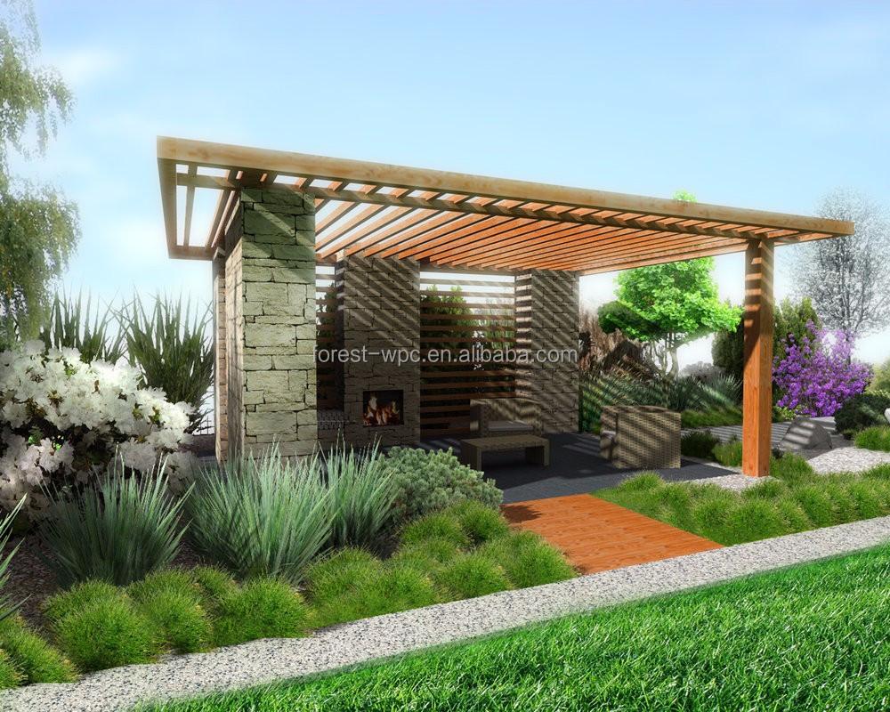 gazebo pavillon 3 x 4 5 pavillon de jardin gazebo wpc pavilion 3 x 3 arches pavillon pergola. Black Bedroom Furniture Sets. Home Design Ideas