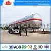 chinese cheap tri axle three comparments 60 m3 bulk lime powder tanker semi trailer for hot sale
