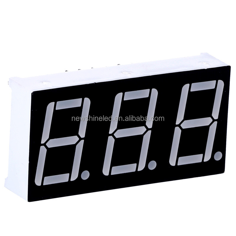 Factory price 0.80 inch Red Led 7 segment display 3 digits seven segment display anode for led digital advertising display