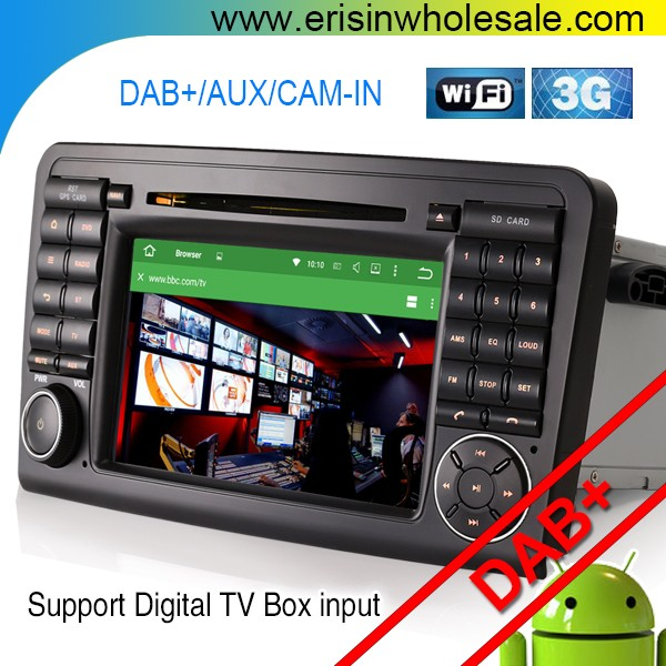 "Erisin ES4511L 7"" Android 5.1 Car Audio System with GPS for Mercedes GL-Class X164"
