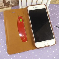 Universal smart phone wallet style leather case leather flip cover mobile phone case for iphone 6 leather cases for 5.5wholesale