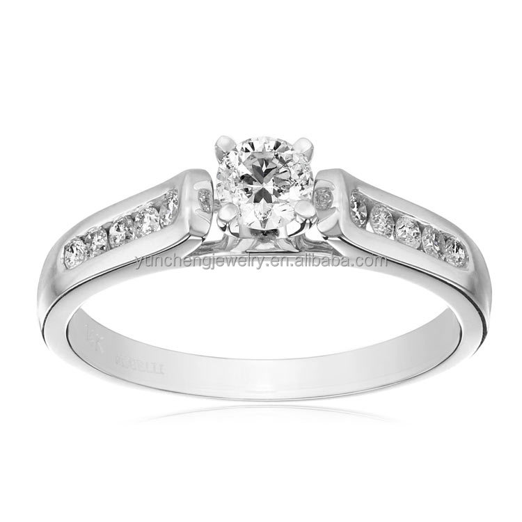 YCR7027 Bright White CZ Engagement 925 Sterling Silver Ring Jewelry with Rhodium Plated