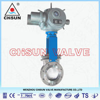 QB Cement WCB Flange Type EPDM Sealed PN10 Knife Gate Valve