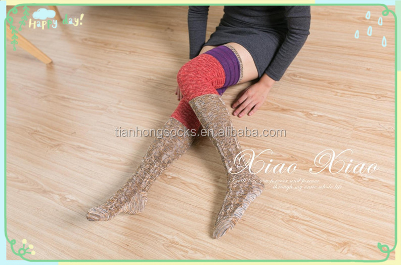 beautiful sexy women knee-high socks women stockings thermal socks