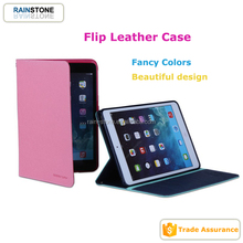 PU leather for iPad mini 4 magnetic case, smart leather TPU case