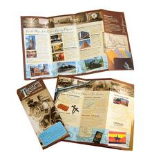 Beautiful Travel brochure printing with 157g art paper