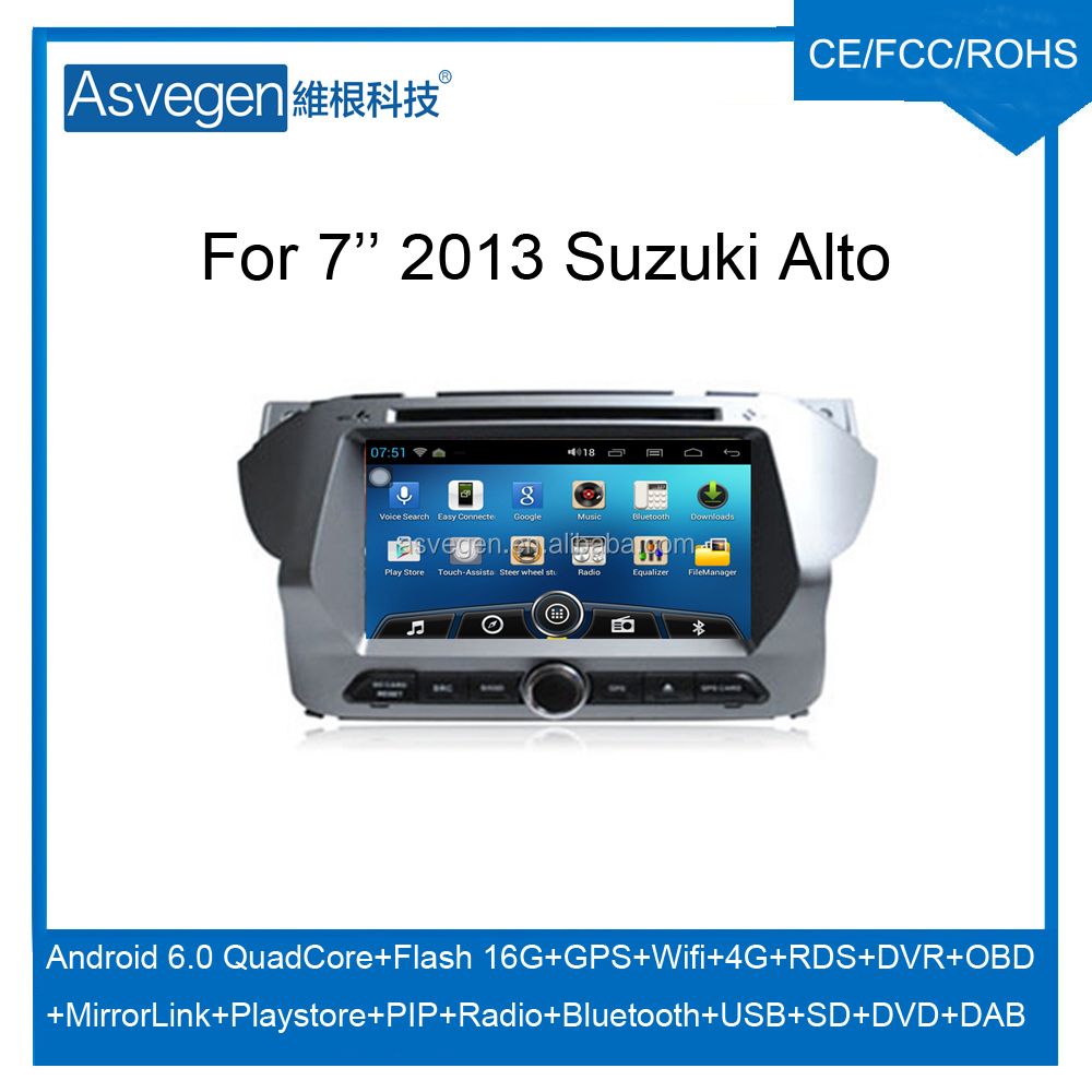 Wholesale Android Car DVD Player for 7'' Suzuki Alto 2013 Navigation Car DVD GPS Support Playstore,4G,WIFI