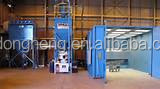 Long service time container sand blasting room