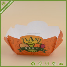 Clean French fries bowl, recycled food box, biodegradable container for hot food