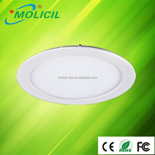12W impact design SMD ceiling downlight Round / Square recessed LED Panel Light for living room