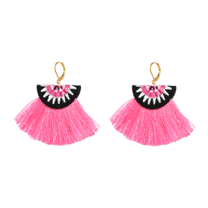 JUJIA New Brand Fashion Jewelry 3 Colors Skirt Shape Yarn Tassel Earring Luxury BOHO Dangle Drop Earrings For Women