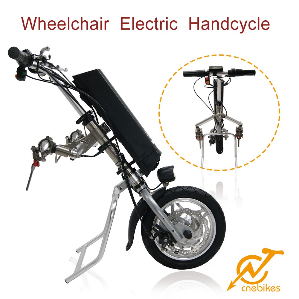 Max 20km/h hub motor attachable electric handcycle for wheelchair