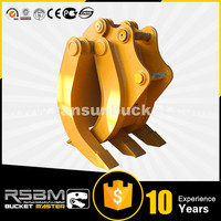 High Quality Excavator mechanical wooden hydraulic grapple for 1-80t excavator