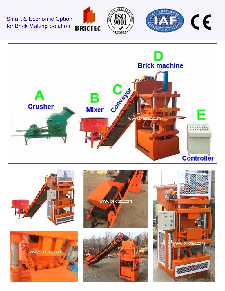 Auto hydraulic stationary concrete brick making machine