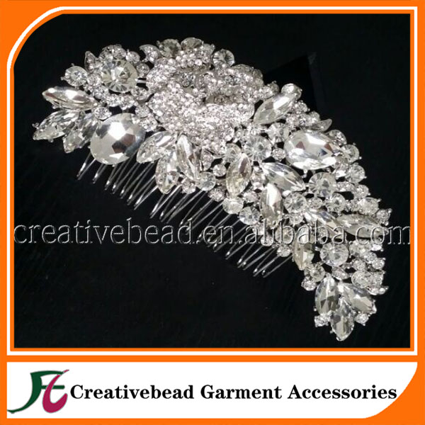 New Fashion Wedding Hair Jewelry for Bridal Silver Plated Hair Comb CBWJ03