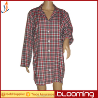 Ladies yarn dyed flannel night shirts