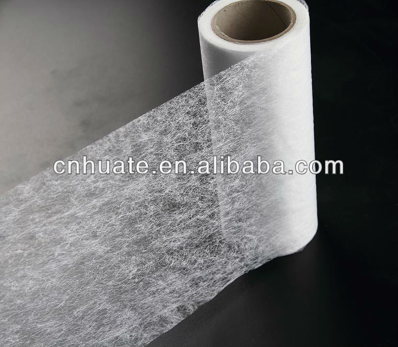 Copolyester hot melt adhesive web for padded bras