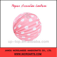***HOT*** Round Paper Accordion Lantern For Party & Wdding Deco.