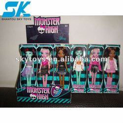 pretty girl plastic dolls Nice and beautifully plastic doll toys for kid decorations fashion doll