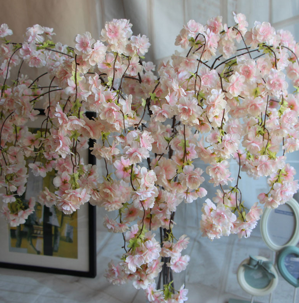 Wholesale 139 cm long stem silk artificial cherry blossom branches for sale