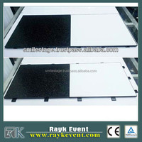 Black & white and strong holding PVC Dance Flooring light weight for sale