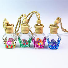 12ml soft clay hanging Car Pendant Car Perfume Glass Bottle