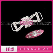 New Design Custom Silver Metal Rhinestone Bikini Connector /Bra Strap Strass For Swimwear/Garment Accessories