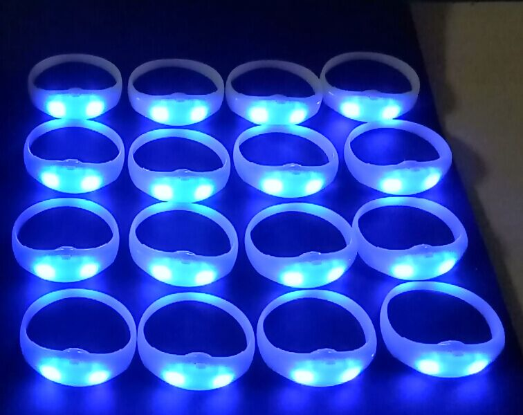Colorful Silicone Wristbands Customized Personalized Logo Silicone Bracelet LED Event Leading Manufacture China