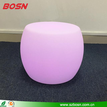 Rechargeable RGB Light Up Stool LED Chair
