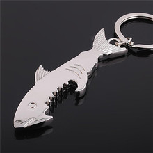 cheap bulk zinc alloy shark bottle opener keychain