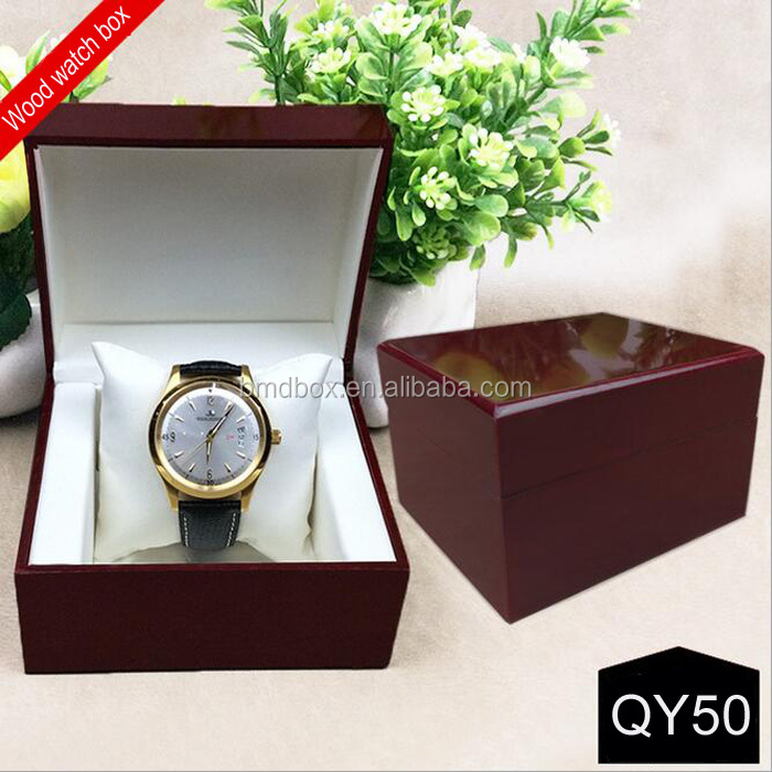custom handmade single wooden box watch ,packaging watch box