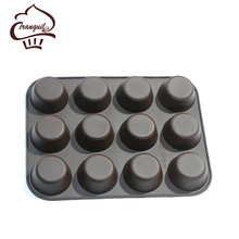 Hot selling round cream cake mold silicone muffin pan