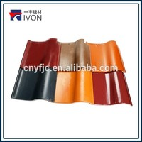 IVON red color shape s waterproof tile spanish roof tile Best price clay roof tile price