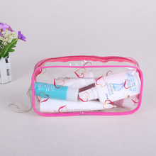 OEM customized transparent makeup packing pvc ziplock cosmetic bag