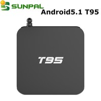 Original Kodi 16.0 & Digital Display Amlogic T95 Android 5.1 S905 tv box with 2G 8G 5g WIFI tv smart box IPTV Set Top Box T95
