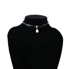 YX034 Best selling women accessories pearl pendant necklace fashion jewellery velvet pearl necklace