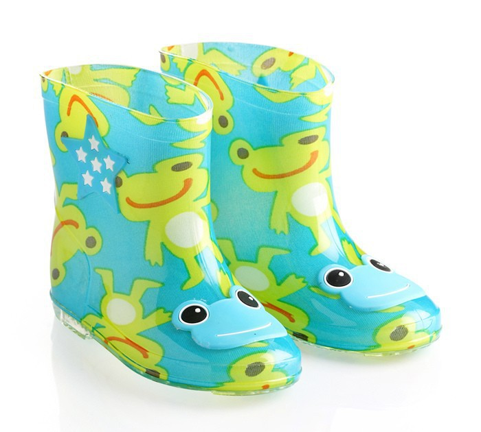 Wholesale rubber girl shoe clear frog lining gumboots girls ...