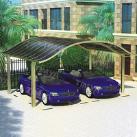 Easy Assemble Steel Garage 2 car with Poly Carbonate shades