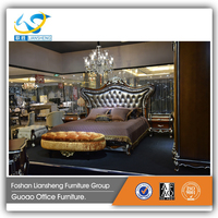 2016 Newest design Bedroom Furniture Luxury Leather Bed