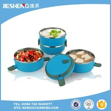 stainless steel food storage container screw lid with divider