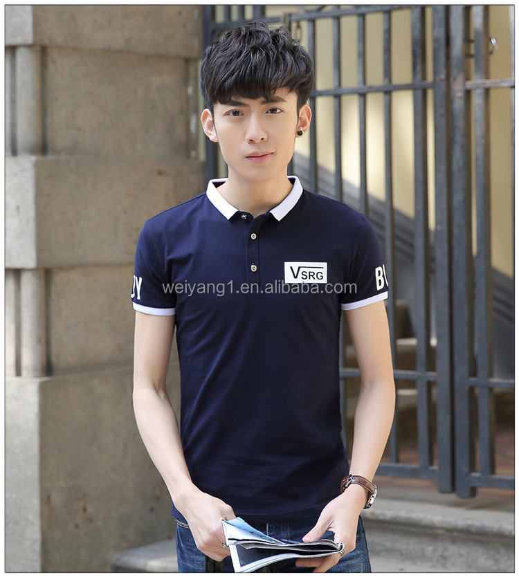 New type of cultivate one's morality leisure summer half sleeve menswear lapel POLO shirt