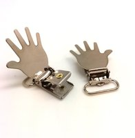 3/4inch PALM design High Quality Metal Suspender Clip with plastic teeth inside for garment