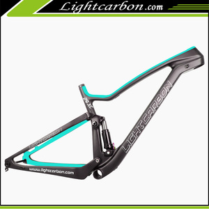 LightCarbon 2017 new carbon full suspension frame 29er mountain bike frame for XC Cross Country LCFS904
