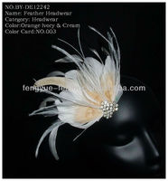 BY-DE12242 white feather hair accessories